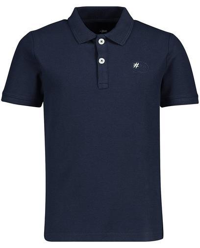 Poloshirt mit gesticktem Print